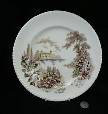 "MULTICOLOR   CASTLE ON THE LAKE   JOHNSONS BROTHERS 9 3/4""  DINNER PLATE (S)"