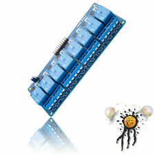 Arduino ESP8266 8 Kanal/Channel Relais Modul 5V / 12V Optokoppler High Low Level