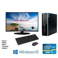 Cheap Fast Full Set HP Elite Desktop SFF PC i5 8GB 500GB Monitor Windows 10 Pro