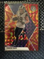 2020 Cooper Kupp Orange Reactive Mosaic Los Angeles Rams Panini Prizm