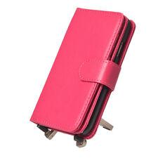 Pink Multifuncional Porta Tarjeta Billetera Cuero Estuche Cubierta para Samsung Galaxy S4