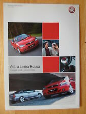 VAUXHALL Astra Linea Rossa Coupe & Convertible 2002 2003 UK Mkt sales brochure