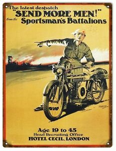 "Sportsmans Battalion Gastado Aspecto Letrero Metal (Rv 22.9cm12 "") Reducido"