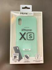 iHome Slim iPhone Xs Silk Soft Touch Liquid Silicone Light Green Case Flexible