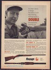 1957 FOX B-ST, Model B, STEVENS 311 Savage Shotgun AD