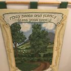 Wall Tapestry, Irish Countryside, Bless Your World, Wood Rod