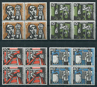 Bund 270 - 273 VB postfrisch Viererblock Satz BRD Wohlfahrt Bergbau 1957 MNH