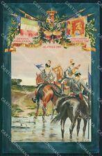 Militari Reggimentali IV Reggimento Genova Cavalleria Lancieri cartolina XF2028