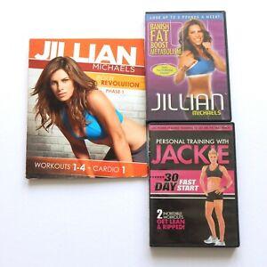 Jillian Michaels Jackie 6 DVD LOT Body Revolution, Banish Fat, Personal Training