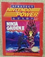 1990 Nintendo Power Strategy Guide Magazine Ninja Gaiden II 2 NES with Poster
