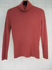 Marks and Spencer UK 14 Jumper Pink High Neck Pure Wool Long Sleeve  EUR 42