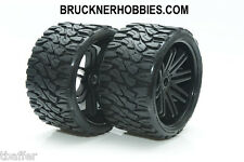SWEEP Terrain Crusher Offroad mounted Black Monster Tire (2) 17mm  Free ship SRC
