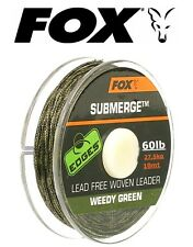Fox Submerge Lead Free Leader 60lb WEEDY GREEN 10mt Leadcore senza Piombo