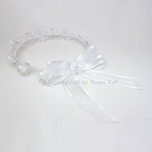 Bridal Wedding Flower Girl Communion Wreath Halo Tiara FG006