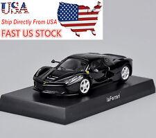USA Sell Kyosho Black Ferrari Laferrari Model 1/64 Minicar Diecast Car Vehicles