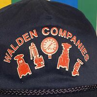 VTG 90s Walden Companies Baseball Hat Snapback Cap Navy Blue Adult Retro USA