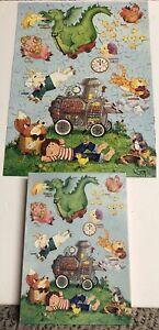 VINTAGE SPRINGBOK RHYME TIME CHILDREN'S JIGSAW PUZZLE 100PCS COMPLETE