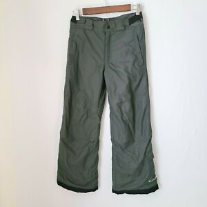 Columbia Kids Youth Snow Pants Sz 10/12 Gray Lined Insulated Waterproof