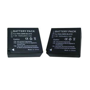 2Pack DMW-BLG10E Battery for  Panasonic Lumix TZ91 TZ81 TZ80 TZ101 TZ202 GX80
