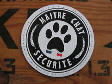 Patch PVC - MAITRE CHAT humour SECURITE chaton CAT SNAKE PATCH scratch