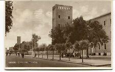 1943 Lecce casa del fascio bicicletta auto epoca Guller Lucca FP B/N VG ANIM