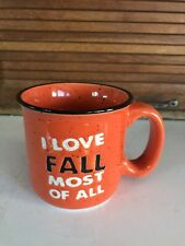 """""""I Love Fall"""" Weighty Ceramic Mug by Tag NEW CONDITION"""