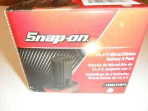Snap on 14.4 batteries CTB8172, CTB8172mp2 2 Pack NEW