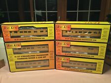 6 MTH/Rail King #30-6030-6034 Union Pacific Streamlined  027 Passenger Cars  NEW