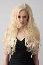 Long Wavy Light Blonde 3/4 Wig Fall Hair Piece 613#