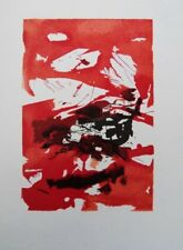 ZAO WOU-KI : Ciel rouge sang - GRAVURE originale #1967 #ARTJAPONAIS