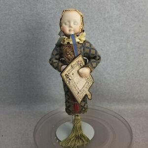 "12"" UFDC artist signed Sandra Wright Justiss Doll Figure Ornament Elizabeth 2002"