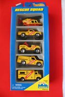 Vintage 1996 Hot Wheels Yellow Rescue Squad 5 Vehicle Gift Pack Rare 17489