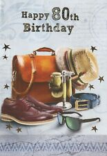 MALE FEMALE YOU'RE 80 TODAY 80TH BIRTHDAY CARD 1STP&P VARIOUS DESIGNS