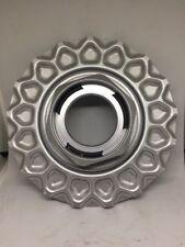 "#2 BBS RZ RS Locking Hex Mesh Silver 6.75"" Wheel Center Hub Cap 09.23.137 C1"
