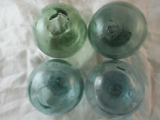 4 Vintage Japanese With Squiggly Surface Glass Floats Alaska Beach Combed