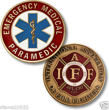 NEW Emergency Medical Paramedic IAFF Challenge Coin. 91176.