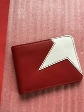 VINTAGE MARC JACOBS RED AND WHITE LEATHER MENS WALLET BILLFOLD NEW NEVER USED.
