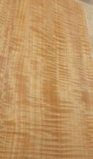 "Figured Fiddleback Anigre wood veneer 8"" x 22"" raw no backing 1/42"" thickness"