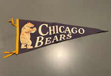Vintage 1950 Chicago Bears Original 29 Inch Pre-owned Felt Pennant
