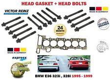 Per BMW E36 323 328 M52B25 M52B28 1995-1999 GUARNIZIONE TESTA CILINDRO + Bullone Testa Set