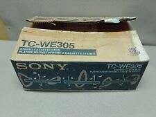 Sony TC-WE305 Dual High Speed Dubbing Stereo Cassette Tape Player Recorder #3482
