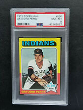 1975 Topps Mini GAYLORD PERRY card #530 - PSA 8  Cleveland Indians Hall of Fame