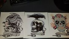 The Expendables, Body Art, Temp. Tattoos, Set of 3, Skulls, Cosplay, Movie Swag
