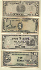 WWII JAPANESE OCCUPATION 11 NOTES MALAYA BURMA PHILIPPINES INDONESIA FREE SHIP