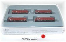 """Märklin 86238 Spur Z Güterwagen-Set """"Holzverladung"""" der DB #NEU in OVP#"""