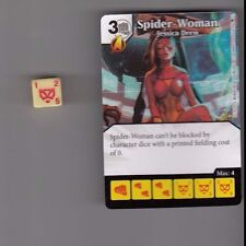 DICE MASTERS AGE OF ULTRON COMMON #65 SPIDER-WOMAN JESSICA DREW CARD WITH DICE