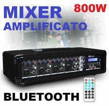 MIXER AMPLIFICATO 800W CON BLUETOOTH + USB/SD / TELECOMANDO