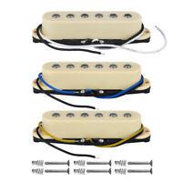 NEW 3PCS Alnico 5 Single Coil Pickups SSS Strat Guitar Pickup Set N/M/B Cream
