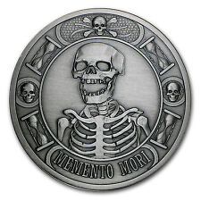 5 oz Silver Round - Memento Mori (Antique Finish) - SKU #104523