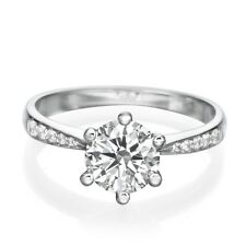 Mother's Day 3/4 CT D VS2 DIAMOND ENGAGEMENT RING ENHANCED ROUND 18K WHITE GOLD